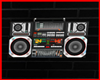 Je 80s Boombox 3d sign