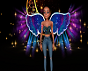 ali di fata blu e viola
