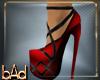 Toxic Red Spike Heels