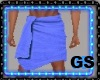 """GS"" Bath Towel Blue"