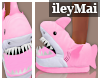 Shark Slippers| Pink