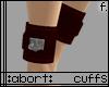 :a: Dark Red Ankle Cuffs