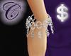 Silver $ Charm Bracelet