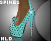 -NLD- Mint Spikes Heels