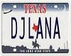 (V)DJLana Licence Plate