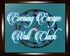 Evening Escape WallClock