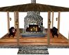 fall time fireplace