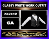 CLASSY WHITE WORK OUTFIT