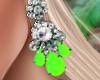 Bali Earrings Green