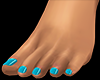 Bare Feet Teal