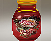 Red Floral Jar large