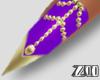 [zuv]purple gold nails