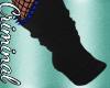 Blk/Blue Spiked Socks
