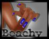 Diamond Blue Nails