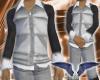 Silver vest & W/B polo