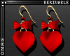 0 | Heart & Bow Earrings