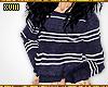 ! Striped Knit Crewneck