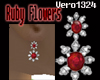 ~Vero~RubyFlowerEarrings