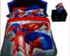 spiderman bed blue&red