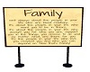 Family Standing Sign