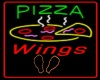 Neon Pizza and Wings