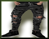 Ripped Camo Jeans Gray