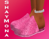 SM FLUFFY PINK SLIPPERS