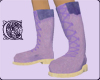 Huggin Purple Lace Ups