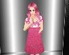 Child Pink N White Dress