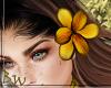 |BW| Left Hair Flower