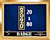 2020 Gold Vert. Badge