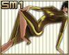 SM1 Latex Dress Gold HD