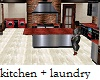 Secluded Kitchen Laundry