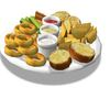 vegan appetizer tray