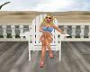 Wooden Deck Chair White2