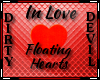 In Love Floating Hearts