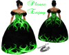 black&green gown