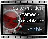 skel-lady cameo red/blk