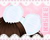 ✿ white hair bow