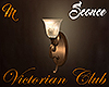 [M Victorian Club Sconce