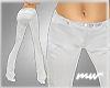 !Flared slacks white
