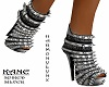 KANE SPIKED HEELS SILVER