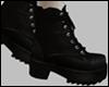 Black Wrap Tie Boots