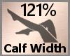 Calf Width Scale 121% FA