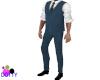 blue vest outfit
