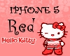 Hello Kitty Iphone5 Red
