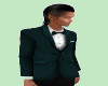 TEF TEAL FORMAL TUX TOP