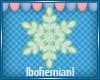Small Green Snowflake