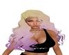 Blonde and purple Wavey