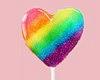 Rainbow Heart Lollipop